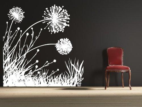white dandelion wall decal - 6