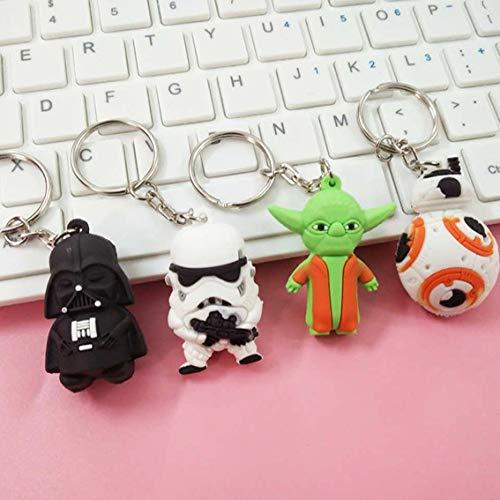 AG Goodies Star Wars Keychains Set - Darth Vader Stormtrooper Yoda Bb-8 Keychain Pendants - Set of 4]()