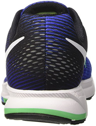 Nike Air Zoom Pegasus 33, Zapatillas de Running Para Hombre Azul (Med Azule/White/Deep Night/Black/Electro Green)