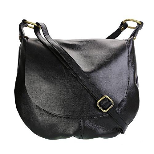 Olivia - Woman Crossed Bag Brown / Camel Small Noir 1770 1771