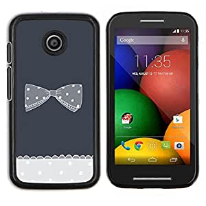 Dragon Case - FOR Motorola Moto E (1st Gen, 2014) - bow bowtie black white polka dot grey - Caja protectora de pl??stico duro de la cubierta Dise?¡Ào Slim Fit