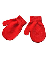 Clearance!!1-4T Kids Girls Boys Winter Warm Magic Stretchy Gloves Winter Cold Weather Windproof Soft Knitted Snow Mittens