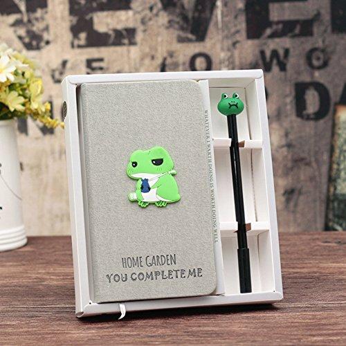 DPIST Trendy Frog Journal Gel Pen Set -Lovely Frog Gifts For (Frog Notepad)