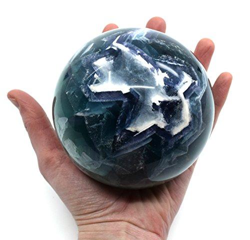 Tranquil Fluorite Crystal Aura Sphere, 4