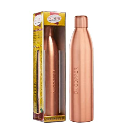 500 ml Copper Water Bottle with New Stylish and Advanced Leak Proof Cap Dr