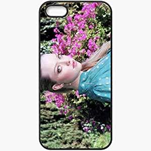Personalized iPhone 5 5S Cell phone Case/Cover Skin Amanda Seyfried Black