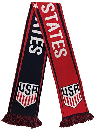 World Cup Soccer United States US National Team Scarf, One Size, Red/White