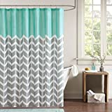 Teal Shower Curtain Intelligent Design ID70-365 Nadia Shower Curtain 72x72