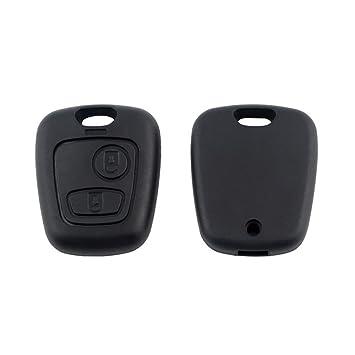 Nicedier-Tech - Carcasa para llave de coche, 2 botones, carcasa para Peugeot, Citroen C1/C2/C3/C4/C5.