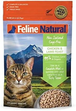 K9 Feline Natural Chicken Lamb Feast Ze Dried Raw Cat Food 0.77-Lb Bag