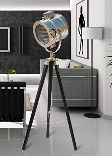 - The Brighter Side Olga Black Tripod Lamp With Chrome Finish Head