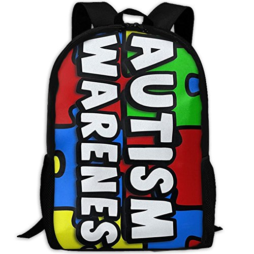 Autism Awareness Unique Outdoor Shoulders Bag Fabric Backpack Multipurpose Daypacks For -