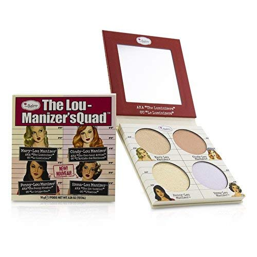 (The Lou-Manizers' Quad Makeup Palette, Highlighter, 2 Exclusive Shades)