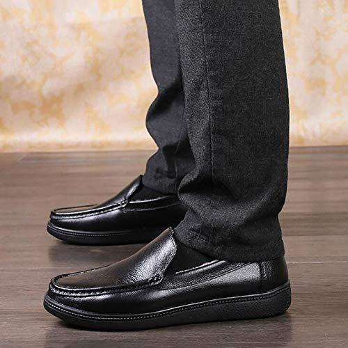 Passeggio Uomo On Feste Slip Autunno Serate Scarpe Impermeabili Black Marrone Da Bovina Nero E Comfort Primavera Oxford Scarpe Pelle E Mocassini vqdpp