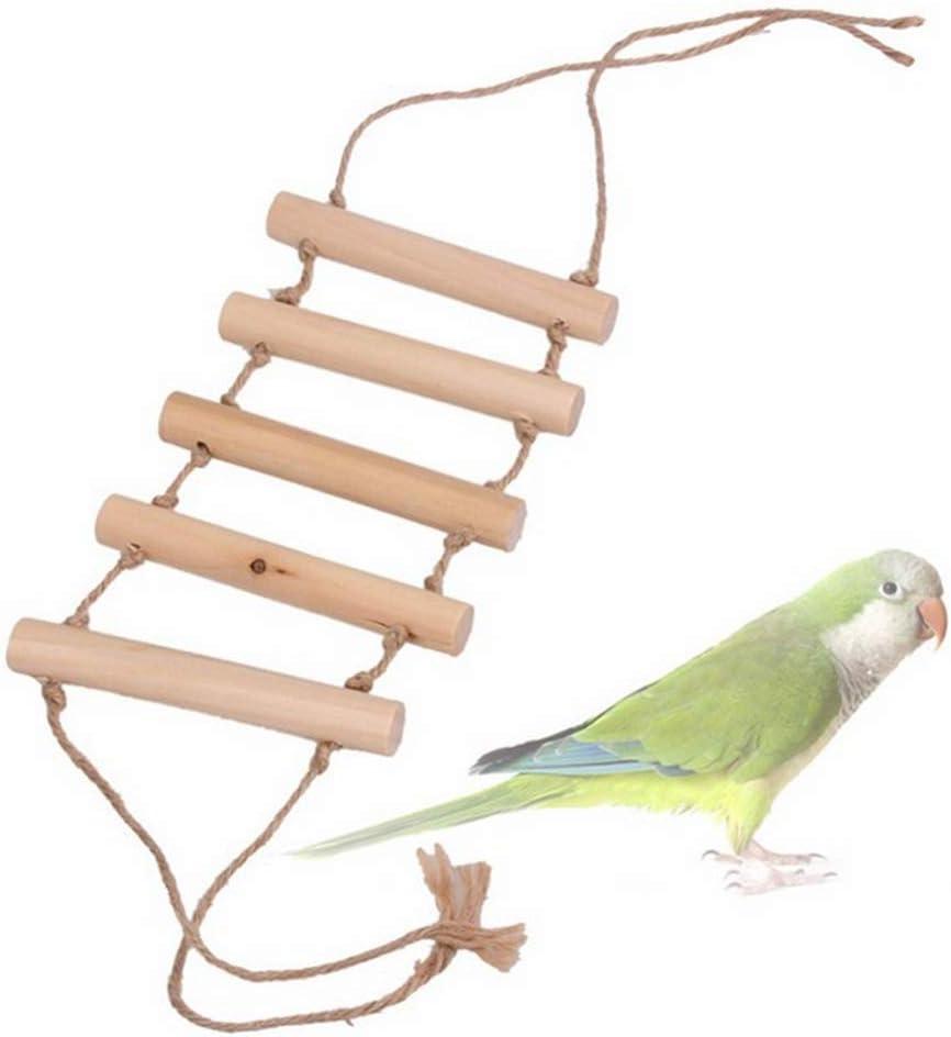 Balacoo 2 Piezas Pájaro Escalera de Madera Puente Colgante Columpios de Pie Juguetes para Pequeños Loros Medianos Periquitos Cockatiels Tortolitos: Amazon.es: Productos para mascotas