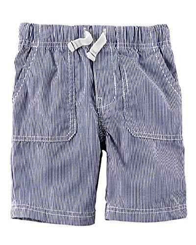 (Carter's Little Boys' Pull-On Striped Poplin Shorts, 2-Toddler)