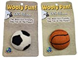 One Pet Planet 86173 Wool Sports Ball (4 Pack), 2''
