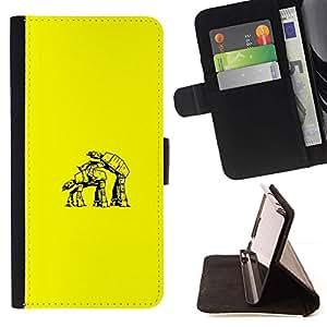 Samsung Galaxy Core Prime - Dibujo PU billetera de cuero Funda Case Caso de la piel de la bolsa protectora Para (Star Walker Love - Funny)