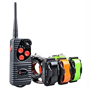 Aetertek AT-216 Professional Rechargeable 600 Yard Remote Dog Training Shock Collar,Beep,Vibrate and 7 Levels (Three dogs collar)