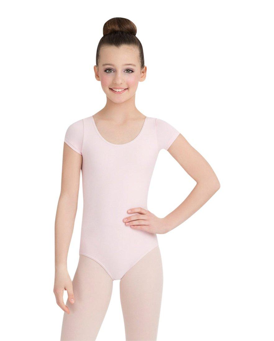 Capezio Little Girls' Classic Short Sleeve Leotard,Pink,S (4-6)