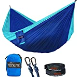 Camping Hammock, Double Hammock Lightweight Portable Hammocks for Hiking, Travel, Backpacking, Yard -Holds 700lbs with Carabiners and Tree Ropes