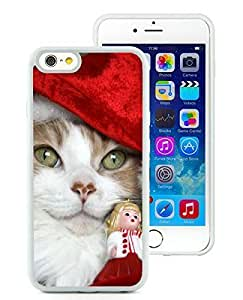Popular Sell iPhone 6 Case,Christmas Cat White iPhone 6 4.7 Inch TPU Case 2
