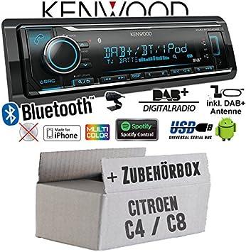 Citroen C4 C8 – Radio de coche radio Kenwood KMM de BT50 4dab ...