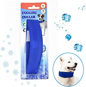 SHITONGDA Dog Summer Cooling Bandana, Comfortable Pet Dog Ice Collar Chill Out Scarf for Puppy Pet Cat