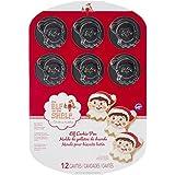 Wilton 2105-8551 Elf on The Shelf Cookie Pan, 12-Cavity