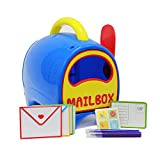Boley Toy Mailbox For Kids - Educational toy mailbox with letters, postcards and stamp sheets - the perfect playset offering hours of pretend play!