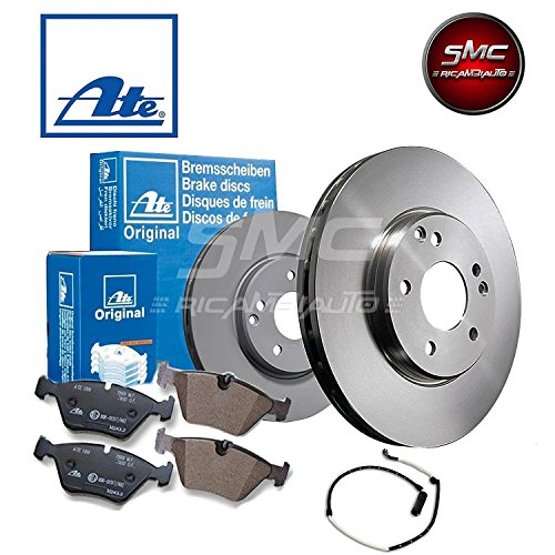 ATE Vented Ø296 Brake Disc + Brake pads front 24.0122 0159.1 + for Disc 7089.2: