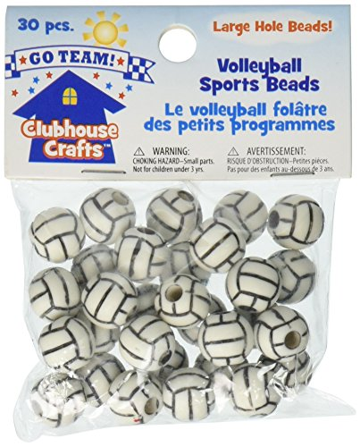 Clubhouse Crafts Sports Beads-Volleyball 30/Pkg