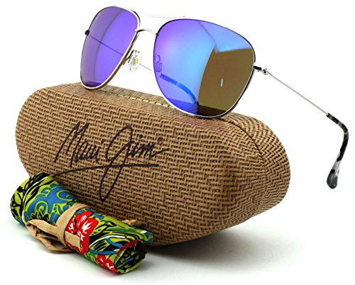 Maui Jim MJ B247-17 Cliff House Silver Frame/Blue Hawaii - Sport Maui Mj Jim