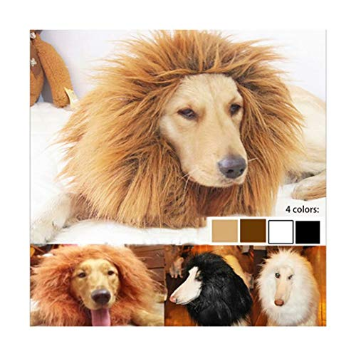 Qiao Niuniu New Pet Costume Lion Mane Wig