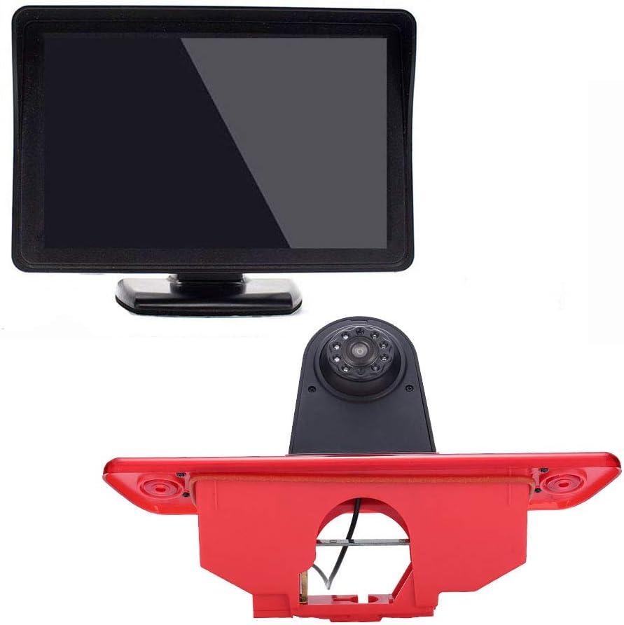 2016 12 mm CMOS Lente C/ámara〕 HD reversa de luz de Freno para Peugeot Expert//Fiat Scudo//Citroen Jumpy 2007 〔4.3 Monitor TFT LCD