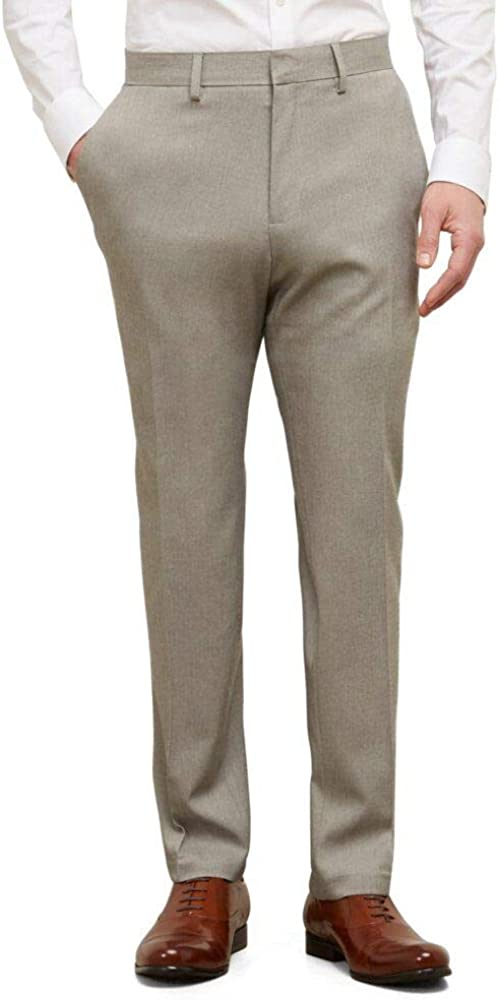 Kenneth Cole Reaction Men's Stretch Modern-Fit Flat-Front Pant