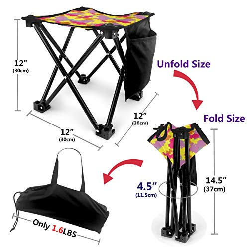 Mini Folding Camping Stool Fishing Chair Ornament Multi ...