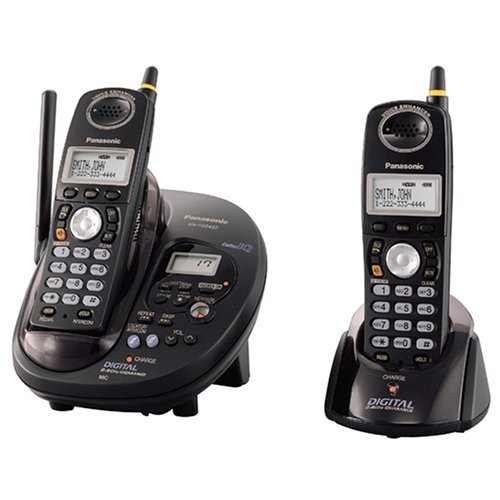 2.4 Ghz Phone System - Panasonic GigaRange KX-TG2432B 2.4 GHz DSS Cordless Phone with Dual Handsets and Answering System (Black)