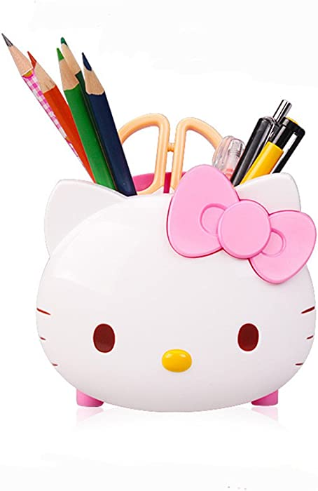 HEYFAIR Pretty Multifunctional Hello Kitty Pen Pencil Holder Desk Organizer Accessories