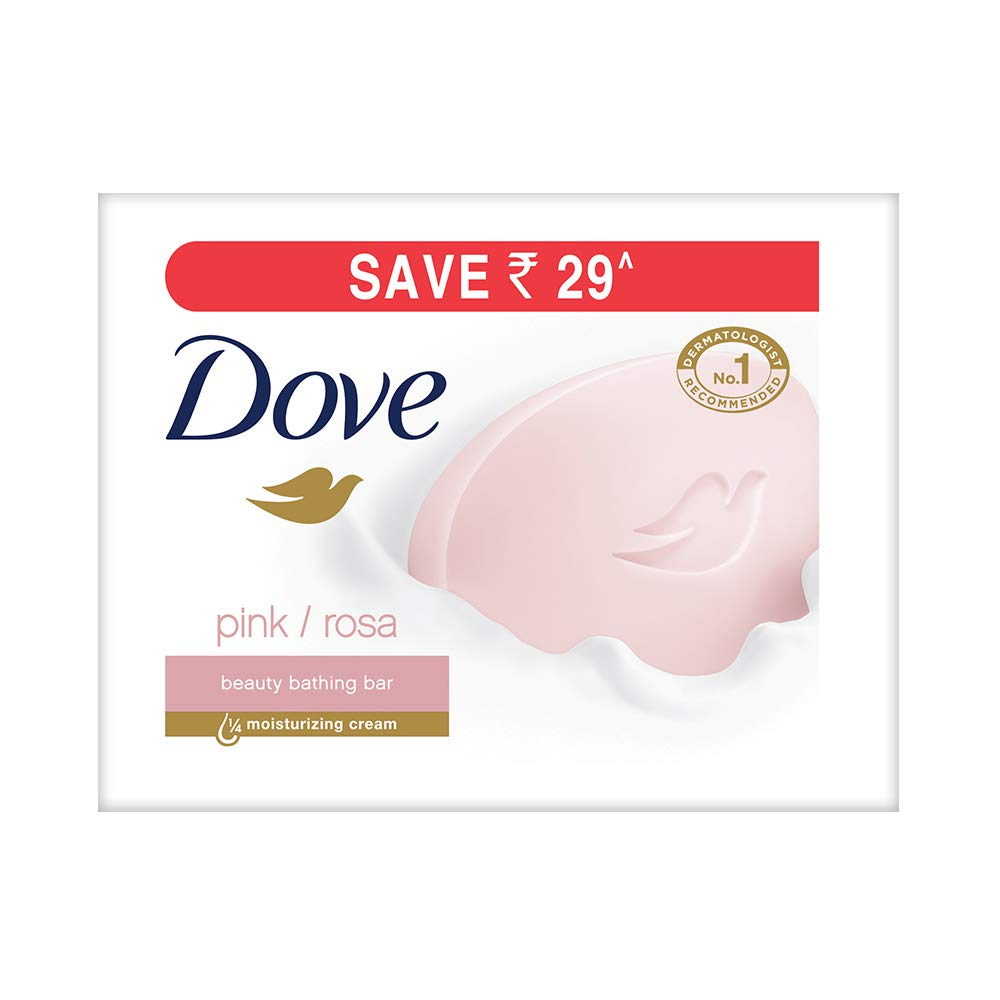 Dove Pink Rosa Beauty Bathing Bar, 100g (Pack of 3) product image
