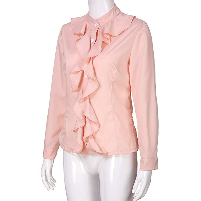 Amazon.com: PERFURM - Blusa de manga larga para mujer, con ...