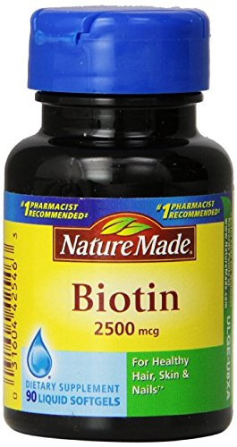 Nature Made Biotin 2500mcg, Softgels, 90-Count Pack of 6 by Nature Made