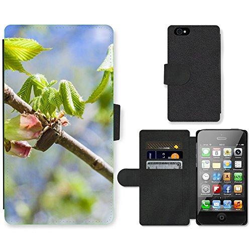 GoGoMobile PU Leather Flip Custodia Protettiva Case Cover per // M00123294 Châtaignier Beetle // Apple iPhone 4 4S 4G