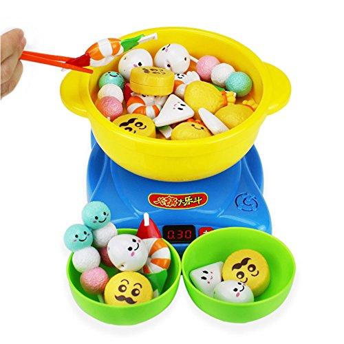 Zehui Children Kitchen Creative Steam Hotpot Toy Steam Oven Bowls and Chopsticks Pretend Playset