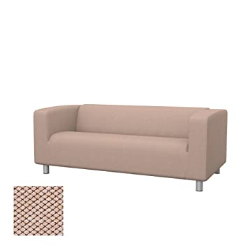 Soferia Replacement Cover for IKEA KLIPPAN 2-seat Sofa, Fabric Nordic Beige