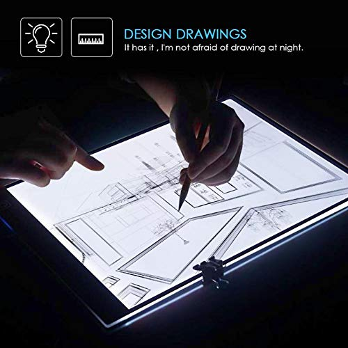 Leo-4Beauty - Digital A4 LED Copy Board Graphic Tablet for Drawing Sign Display Panel Luminous Stencil Graphic Artist Thin Art - Sign Led Copy