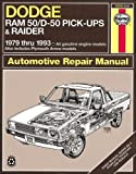 Dodge Ram 50/D50: Pickups & Raider,  1979 - 1993 (Haynes Automotive Repair Manuals)