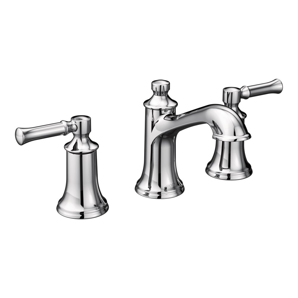 Moen T6805 Dartmoor Two-Handle Low Arc Bathroom Faucet without ...