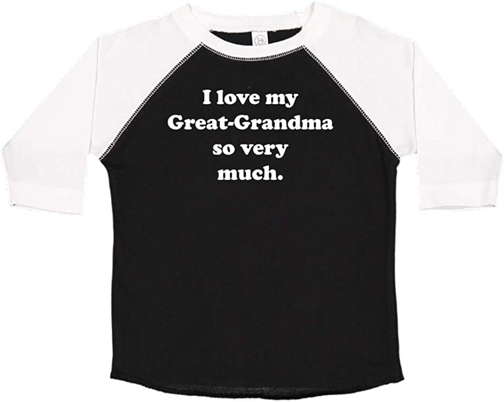 I Love My Great-Grandma So Very Much Toddler//Kids Raglan T-Shirt