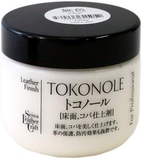 120g Seiwa Tokonole Leather Finish Burnishing Gum Clear Leathercraft
